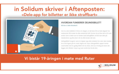 Dele-app for billetter er ikke straffbart