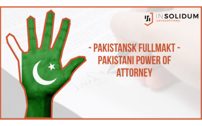 Pakistansk fullmakt/Pakistani Power of Attorney